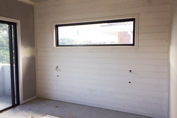 """Alt=""""Bedroom with tongue and groove planking"""""""