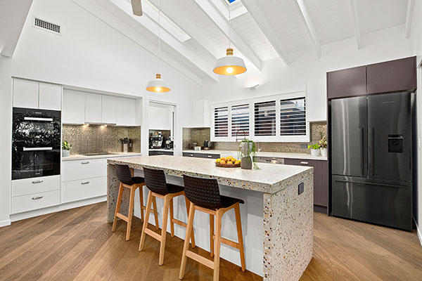 contemporary coastal kitchen design