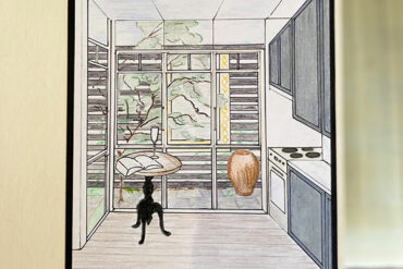 Sketch of clients kitchen in Manly